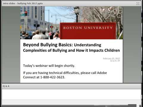 Beyond Bullying Basics: Understanding Complexities of Bullying