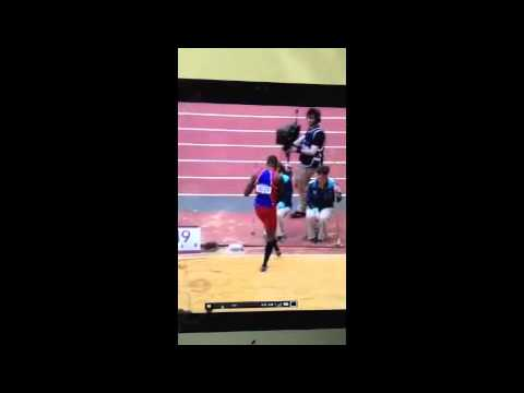 Samyr Laine triple jump to qualify