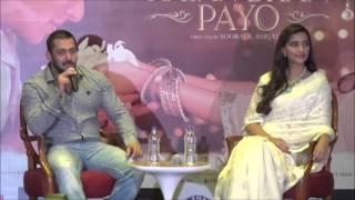 Uncut | Delhi launch | Aaj Unse Milna hai | Prem Ratan Dhan Payo |Salman Khan | Sonam kapoor