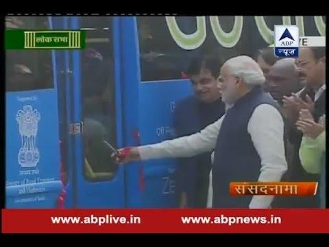 PM Modi inaugurates electric bus in Parliament