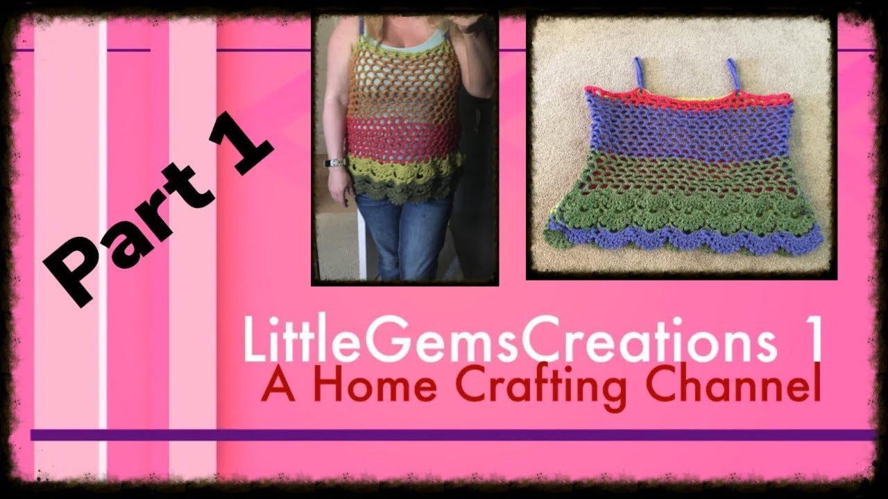 Follow A Long Crochet Floral Cami Part 1 Youtube