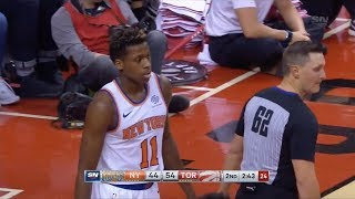 Knicks highlights from young core vs Raptors (Mitchell Robinson, Kevin Knox, Ntilikina, Dotson)