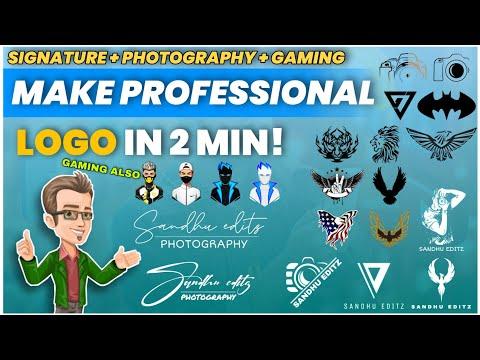 How to make a logo | how to make a signature logo | photography logo kaise banaye | sandhu editz