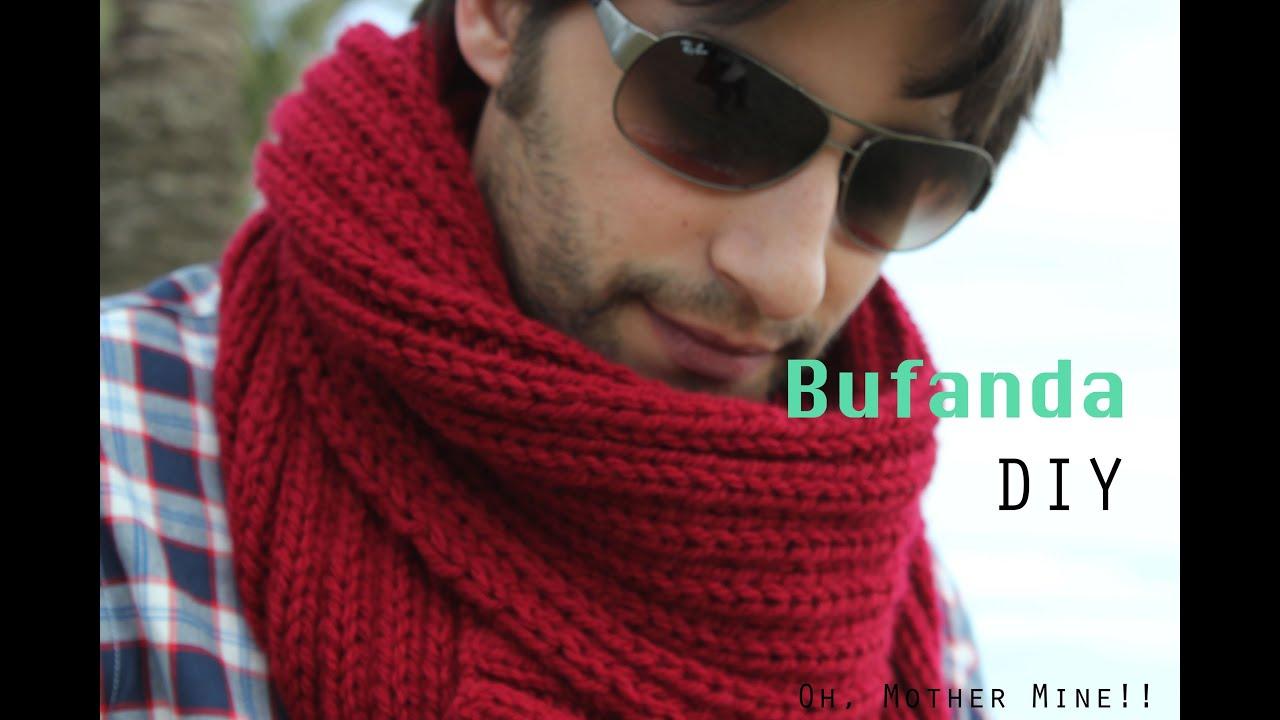 mejor sitio web estilo atractivo vendible Como hacer bufanda de hombre DIY