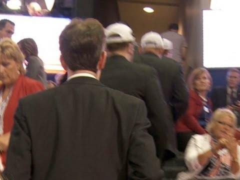 Ron Paul Delegates Walk Off Convention Floor in Protest