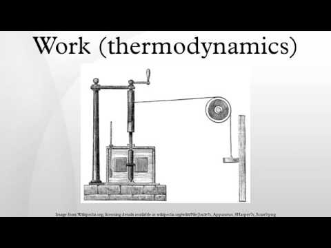 Work (thermodynamics)