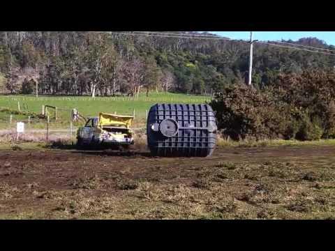 Polymaster Bloo Septic Tank v Datsun Stanza