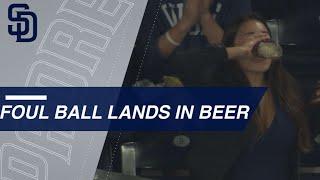 Good Hops: Fan chugs beer after foul ball lands in it