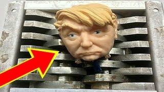 Shredding A Donald Trump Squeeze Toy (Explodes)   Shredding Stuff   Shredding Toys