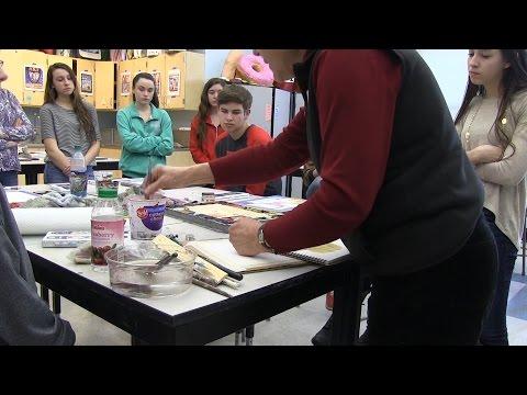 PCN Watercolor Artist Demonstrations Silver Lake High School Kingston