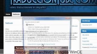 Reinstalar Windows CE en Netbook China