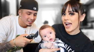 WE CUT BABY G's HAIR FOR THE FIRST TIME!!