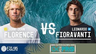 John John Florence vs. Leonardo Fioravanti - Round Three, Heat 6 - Outerknown Fiji Pro 2017
