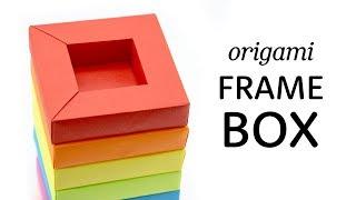 Origami Frame Box Tutorial - Shadow Box - Paper Kawaii