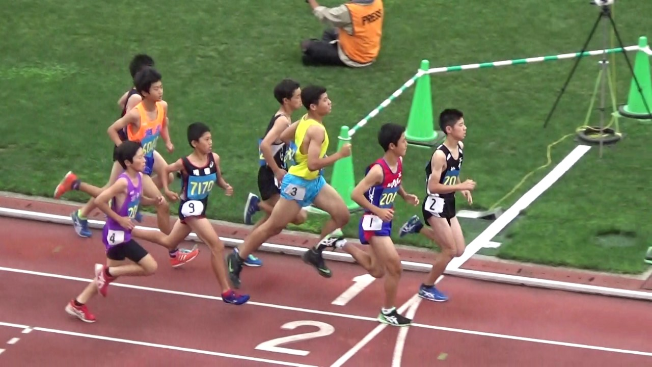 H29千葉県通信陸上大會 1年男子1500m予選3組 - YouTube