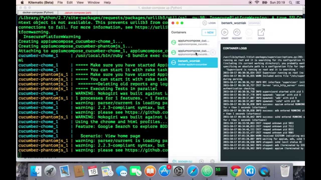 Docker-Compose Cucumber for cross-browser tests