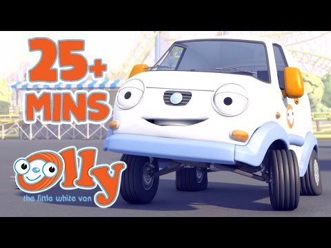 Olly The Little White Van - The Wonderful Washer | 25+ minutes | Lessons with Olly