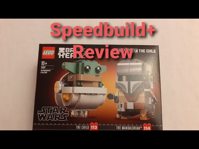 Speedbuild+Review The Mandalorian & The Child Brickheadz (Art.75317)