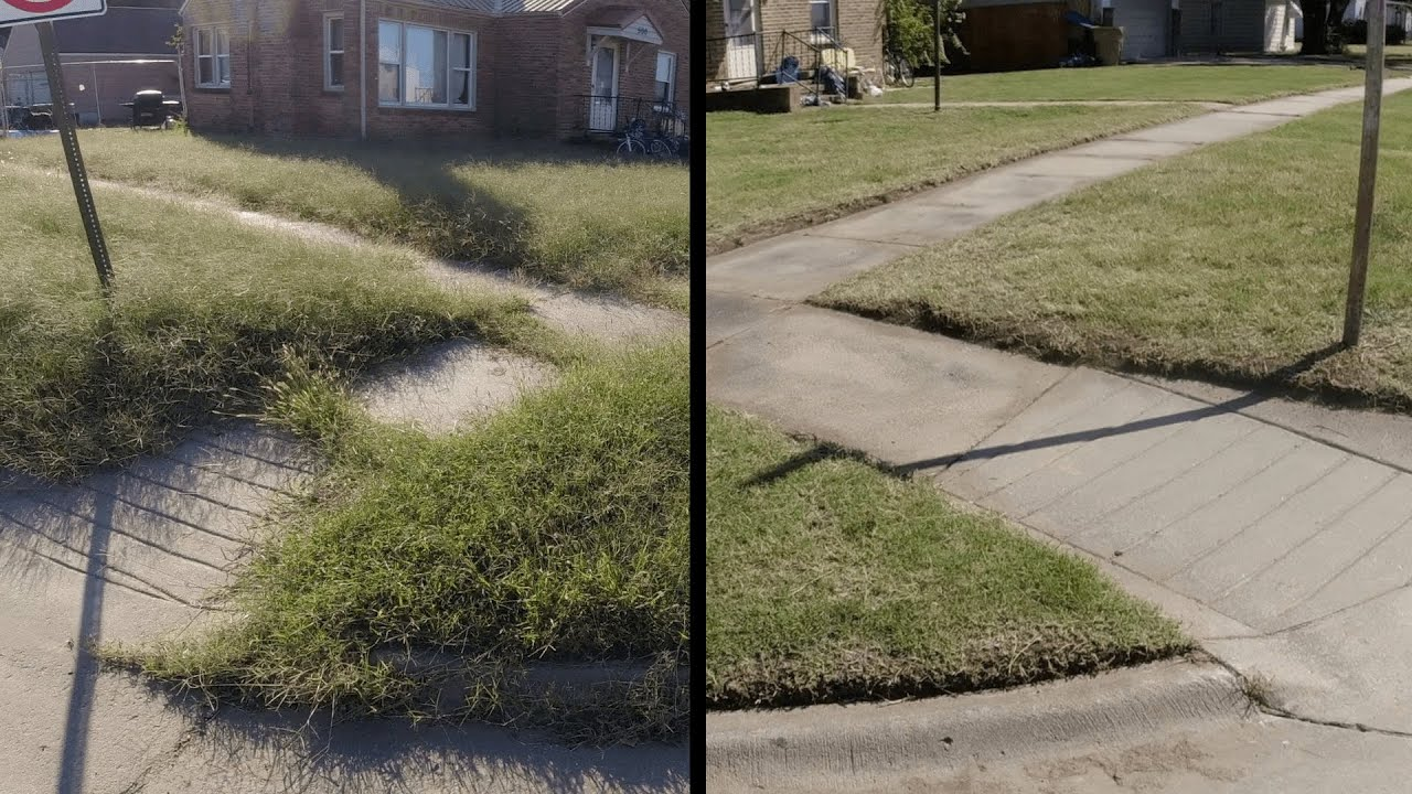 Disabled Woman SHOCKED at Her OVERGROWN Lawn Transformation - I MOWED and EDGED for FREE - Part 2