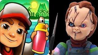 Subway Surfers vs Chucky Slash & Dash