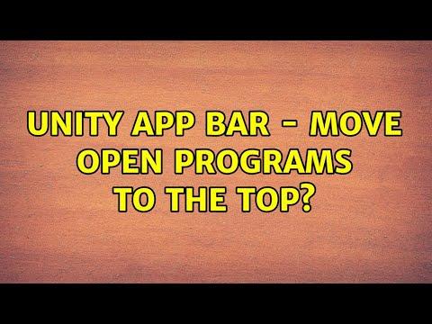 Ubuntu: Unity App Bar - Move open programs to the top ...