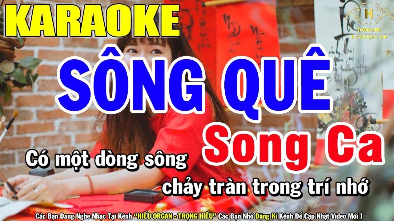 Karaoke Sống Quê Song Ca Nhạc Sống   Trọng Hiếu