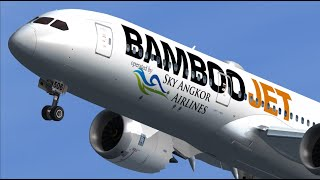 [FSX] Bamboo Airways Sky Angkor Airlines in Frankfurt.