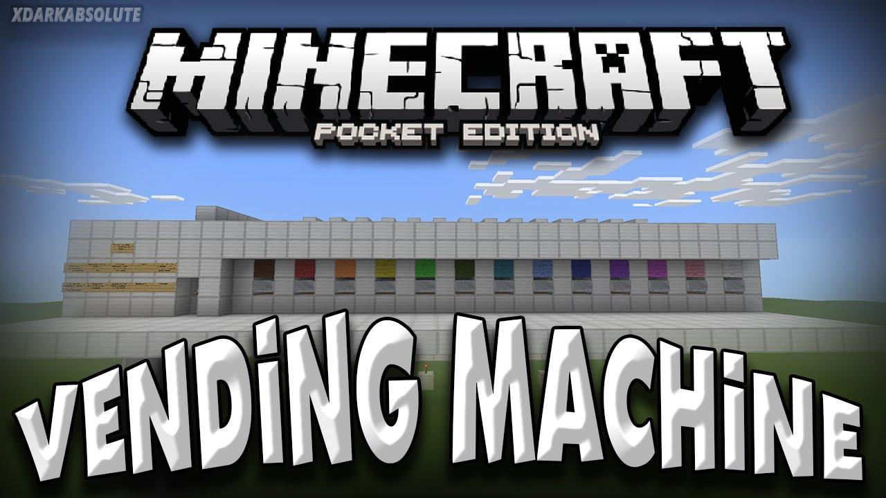 minecraft pe vending machine