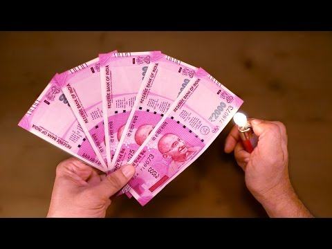 Best Indian Currency Ever- 2000 Rs Note- 5 CRAZY TORTURE TEST  - Waterproof? Fire Proof?Color Fade??
