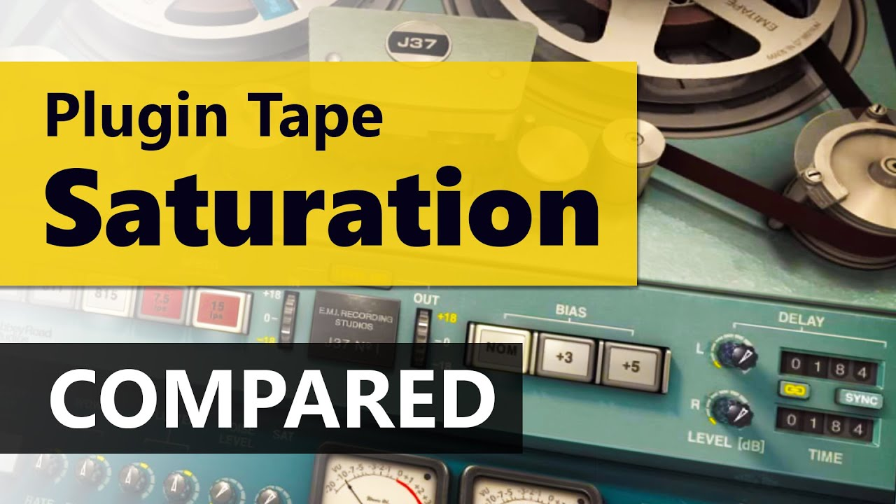 Tape Saturation VST - Slate Digital VTM vs  Waves J37 vs  TB ReelBus