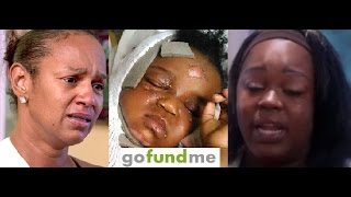 Jackie Christie's Daughter set up GoFundMe for son who was BADLY BURNED  (& Jackie has MILLIONS) SMH
