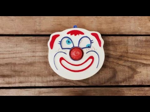 Wind-Up Clown Crib Toy - Sanitoy 1973