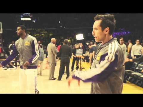 Novak Djokovic attended the LA Laker's home game in Los Angeles