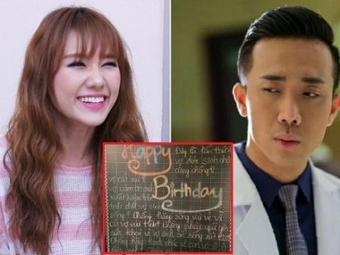 Hari Won Tặng quà sinh nhật cho Trấn Thành nhưng ai cũng choáng khi nhìn lời chúc của Hari Won