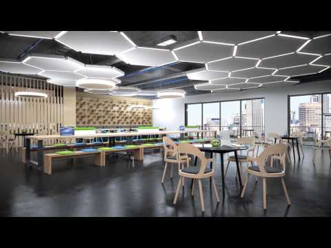Rstyle 3D: JP Office WorkStations - Office Furniture - Architectural 3D Animation.