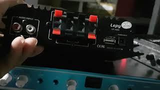 Amply 2.1 12v lepy 168s , 2 đường công suất đánh sub hơi 420k lh 0964.867.866