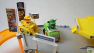 Трек паркинг дорога гараж щенячий патруль Рокки и Крепыш