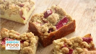Rhubarb Crumb Bars - Everyday Food With Sarah Carey