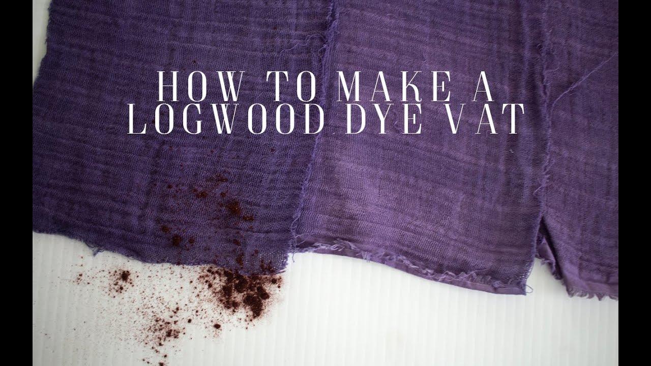 How To Make A Logwood Vat Beautiful Dark Purple Youtube
