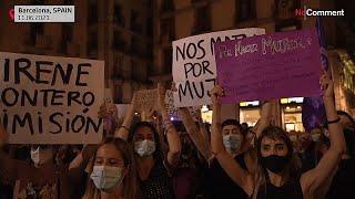 Барселона протесты против насилия в отношении женщин и детей