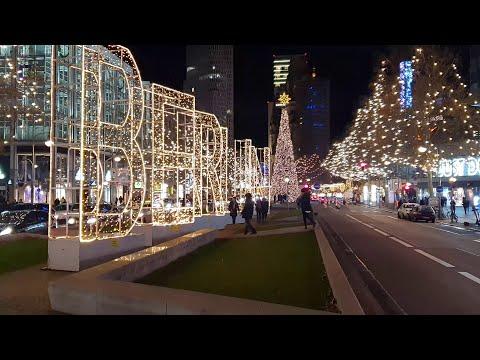 Christmas / New Year Lights Berlin City 2019 [4K]