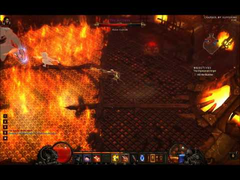 Diablo III - How to kill The Butcher, The Act 1 End boss in Diablo III (with a demon hunter)