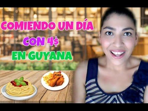 RETO comiendo con 4$ un día en GUYANA/ Ani Cerbara❤️