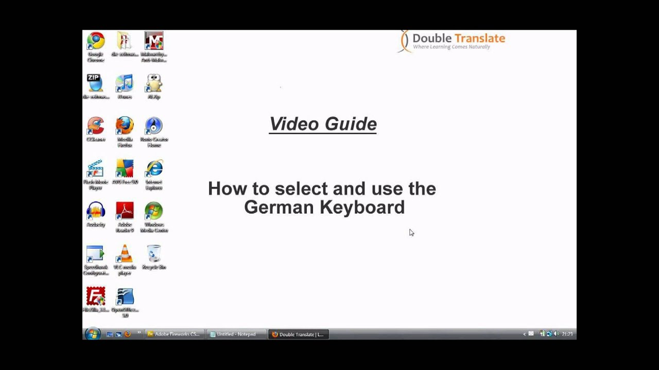 Learn German How To Select And Use The German Keyboard Youtube