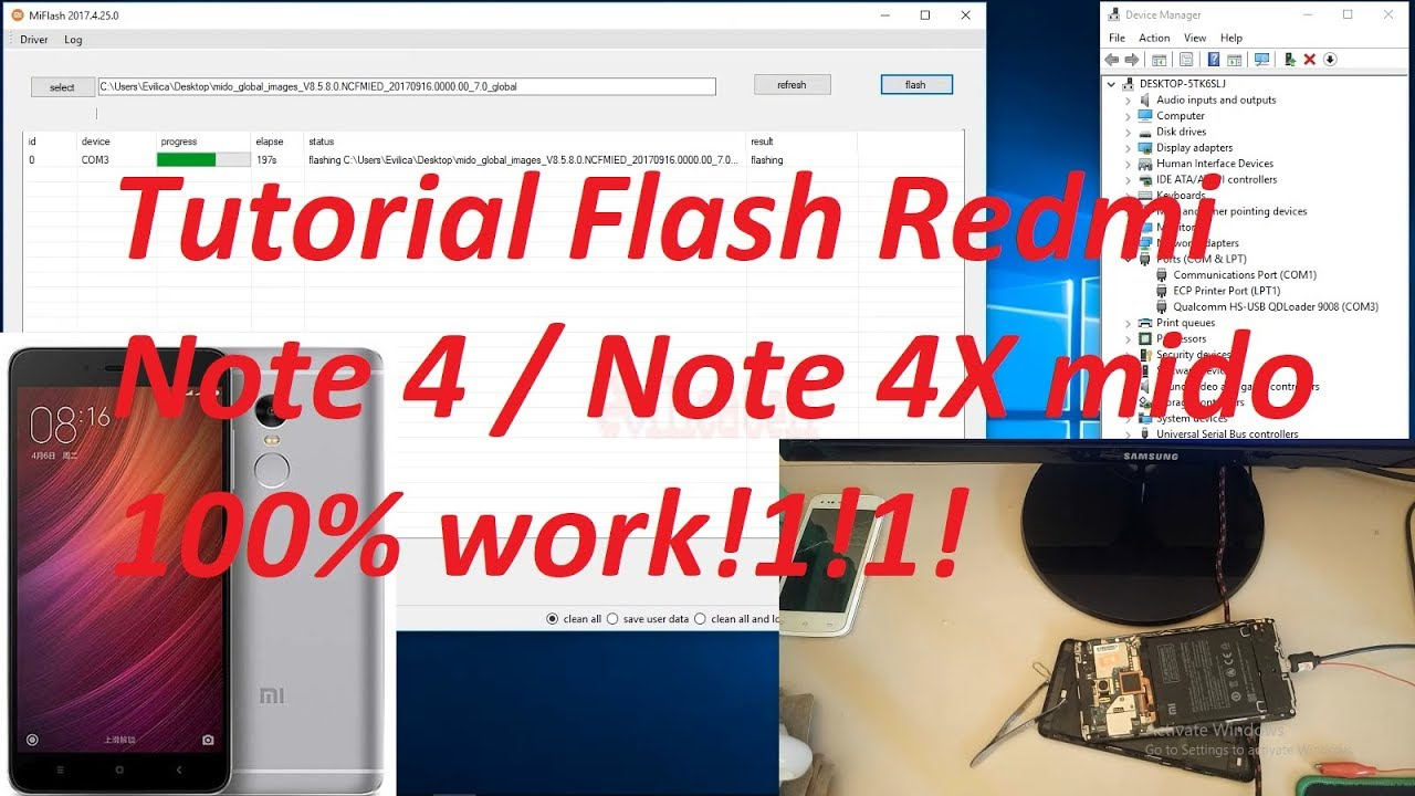 Tutorial Flash Redmi Note 4 Mido Qualcomm