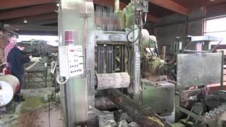 Переработка тонкомера на пилораме Linck