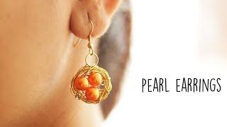 DIY Pearl Earrings | Handmade Jewellery | Jewellery Making