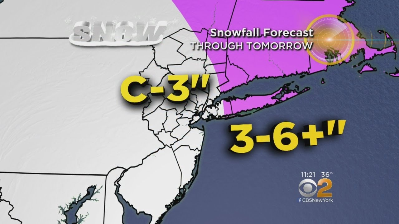 3rd Nor'easter Threatens Area With More Snow
