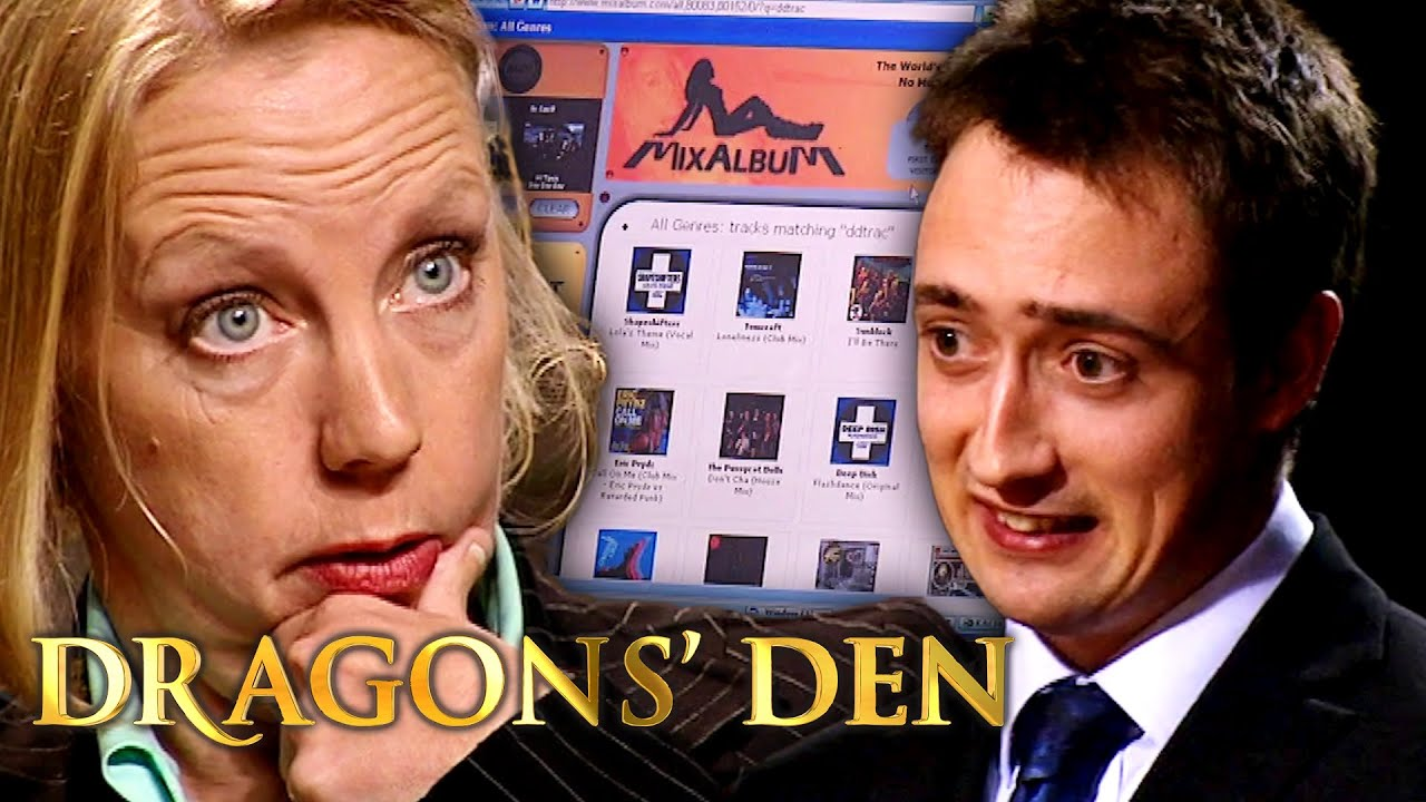 Qualified Patent Attorney Pitches Automated DJ Software   Dragons' Den