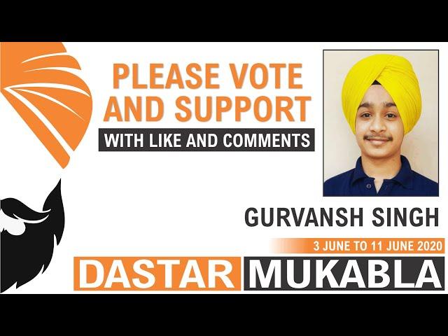 GURVANSH SINGH || Dhansikhi Dastar Mukabla || Dhansikhi Turban Tying Compitition 2020